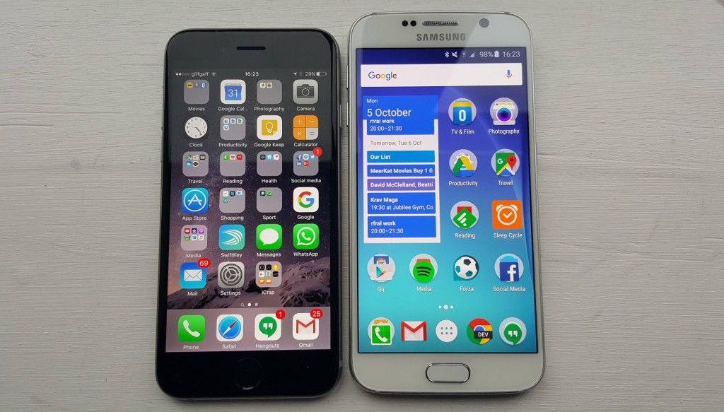 Which is the Best Smartphone – iPhone 6S or Galaxy S6